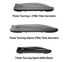 THULE TOURING RANGE OF ROOF BOXES